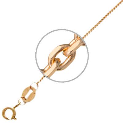 Цепочка женская Эстет 01Ц7100835 красное золото 585 пробы 60 см