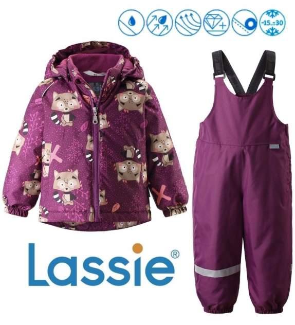 Комплект куртка + полукомбинезон для девочек Lassie цв. розовый р-р. 86