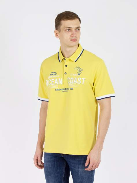 Футболка-поло мужская MCL GD60700246 желтая 4XL