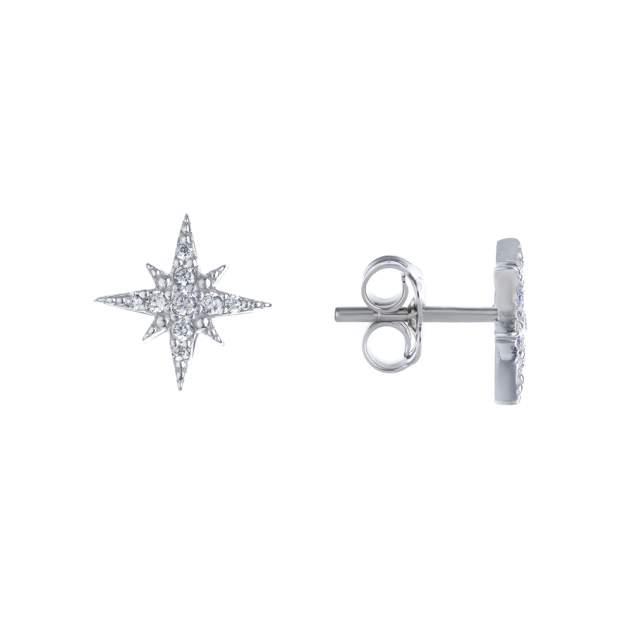 Серьги женские из серебра Miestilo E66130107 фианит