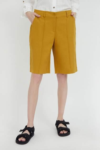 Шорты женские Finn Flare S21-11015 желтые L
