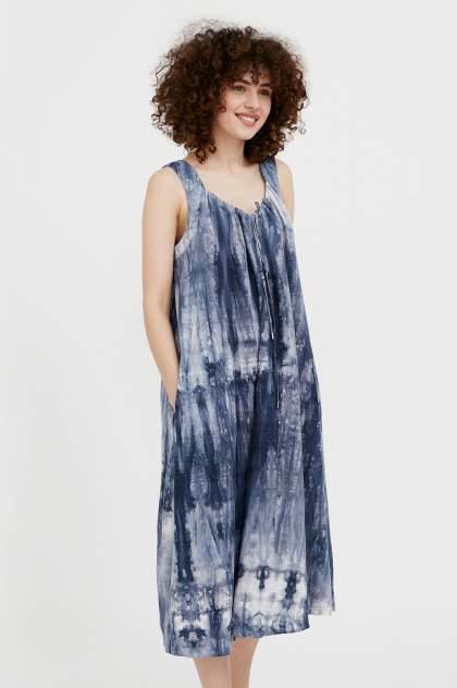 Платье-сарафан женское Finn Flare S21-11024 синее S
