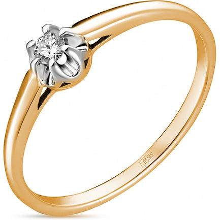 Кольцо женское Лукас-Голд R01-D-SOL15-007-G2 р.18