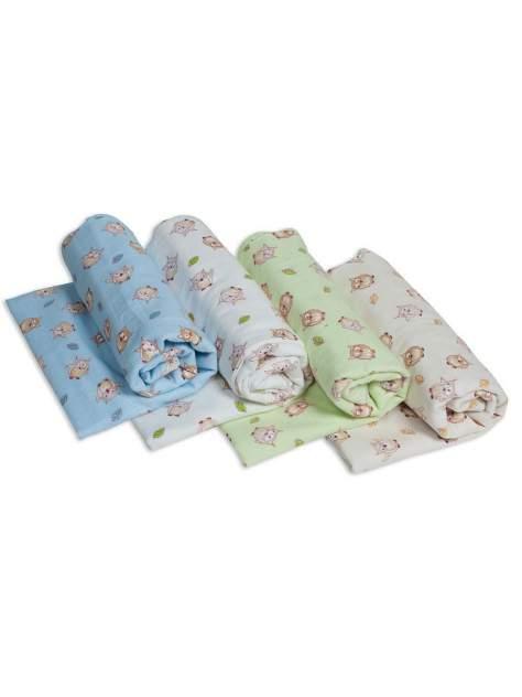 Пеленки для новорожденных Чудо-Чадо фланелевые Сыночку 4 штуки