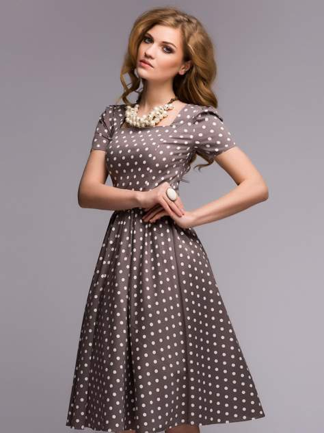Женское платье 1001dress DM00357BG, бежевый