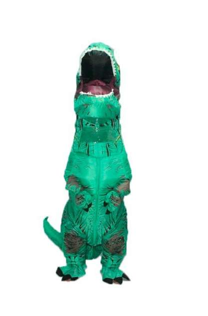 Надувной костюм Lilkrok Динозавр, цв. зеленый р.150-190
