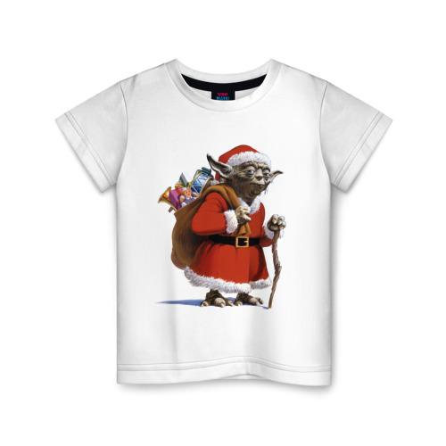 Детская футболка ВсеМайки Йода Клаус, размер 86