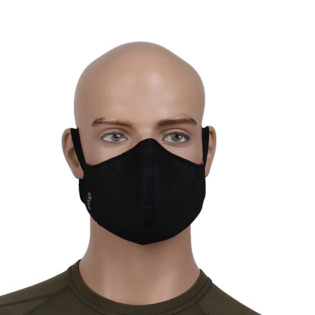 Многоразовая защитная маска 3D Сплав черная 1 шт.