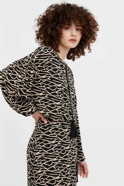 Женская блуза Finn Flare S21-14088, черный
