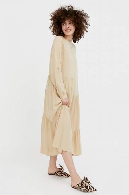 Женское платье Finn Flare S21-11078, бежевый