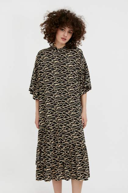 Женское платье Finn Flare S21-14090, черный