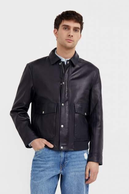 Мужская кожаная куртка Finn Flare B21-21801, синий