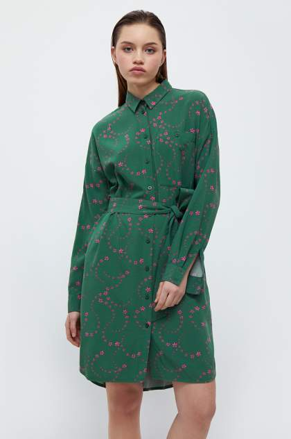 Женское платье Finn Flare B21-32048, зеленый