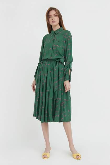 Женское платье Finn Flare B21-32047, зеленый