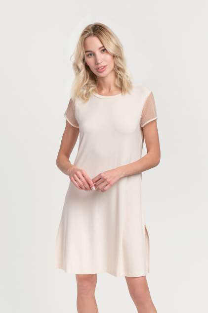Домашнее платье Laete 57132L, бежевый