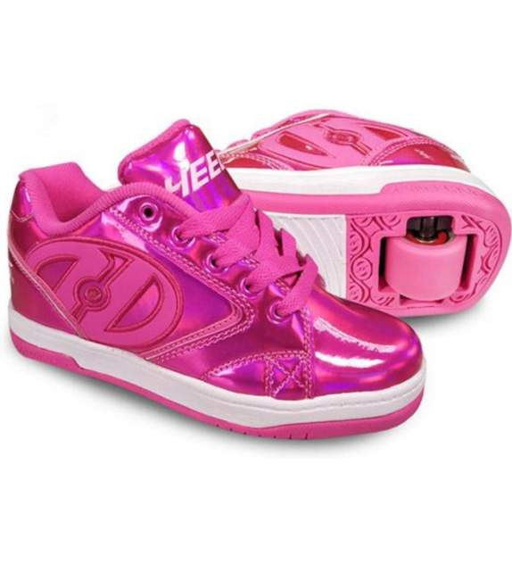 Кроссовки на роликах для девочек Heelys цв. розовый р-р. 4
