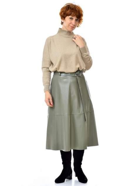 Женская юбка Aleksandria Экокожа, зеленый