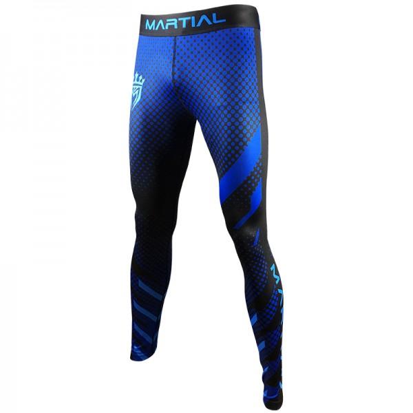 Тайтсы Athletic pro. blue fitness MSP-145, синий