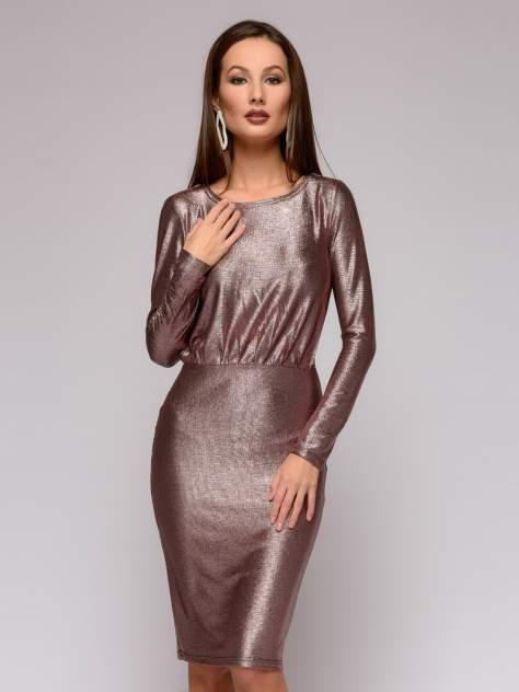Вечернее платье женское 1001dress DM01430PK розовое 40
