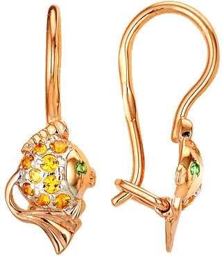 Серьги женские из золота Сорокин 20011550, фианит
