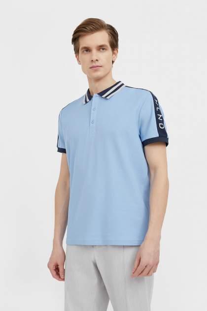 Футболка-поло мужская Finn Flare B21-22029 голубая 3XL