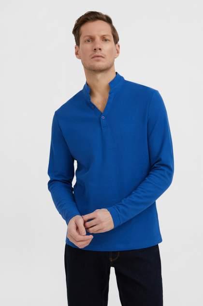 Лонгслив-поло мужской Finn Flare BAS-20002 синий 3XL