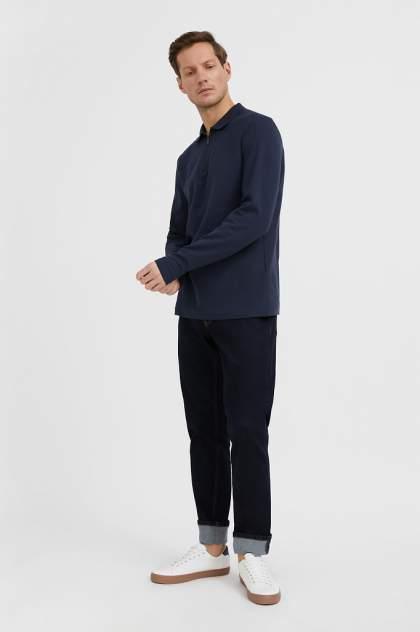 Лонгслив-поло мужской Finn Flare BAS-20001 синий 3XL