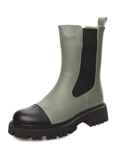 Ботинки женские MAKFINE 51MK-65-01A7AH, зеленый