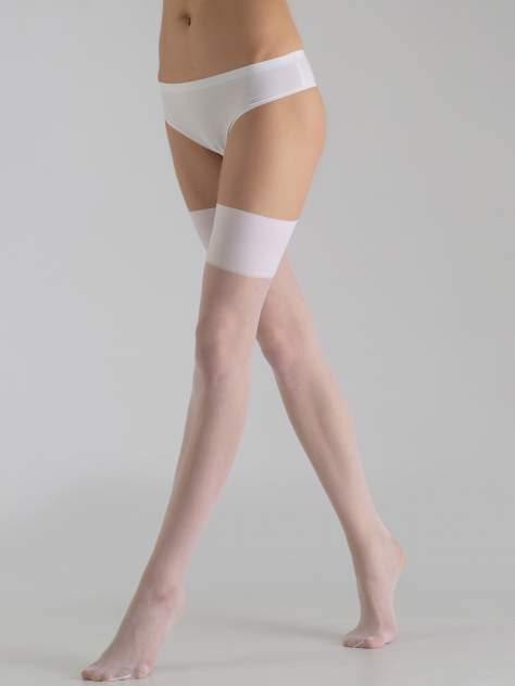 Чулки женские Giulia SEGRETO 20 белые 3-4 (M/L)