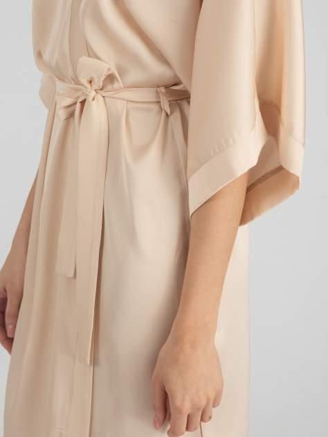 Шелковый халат женский Giulia HELENA 7205/050, бежевый