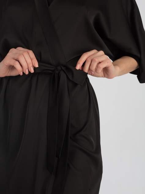 Шелковый халат женский Giulia HELENA 7205/050, черный