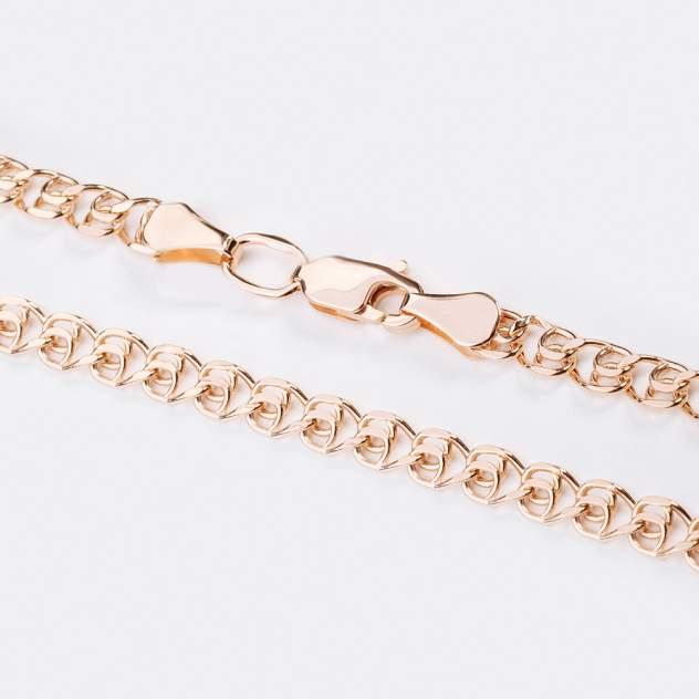 Цепочка унисекс НАШЕ ЗОЛОТО ТЗЦПЛВ10512060 из красного золота, 45 см