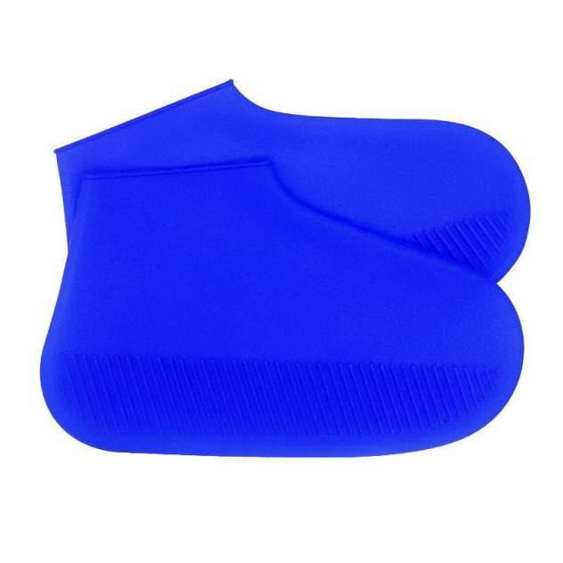 Силиконовые бахилы высокой плотности S (29-34), синие
