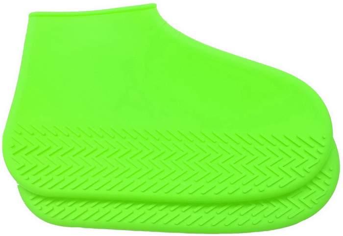Силиконовые бахилы высокой плотности S (29-34), зеленые