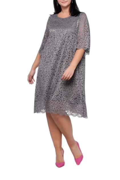 Платье женское Limonti 756702 серое 66 RU
