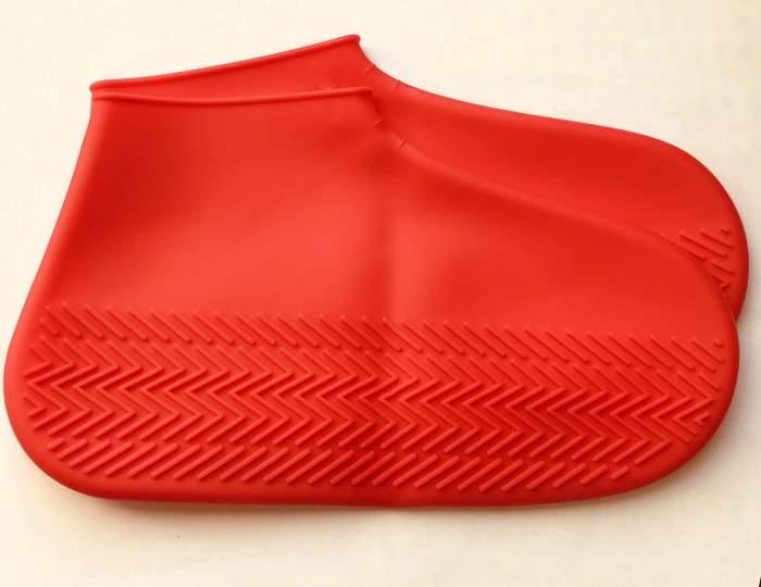 Силиконовые бахилы высокой плотности S (29-34), красные