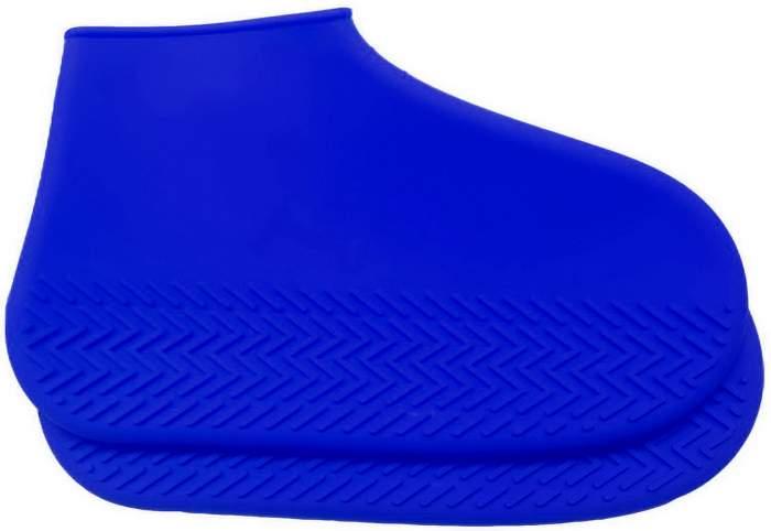 Силиконовые бахилы высокой плотности M (35-40), синие