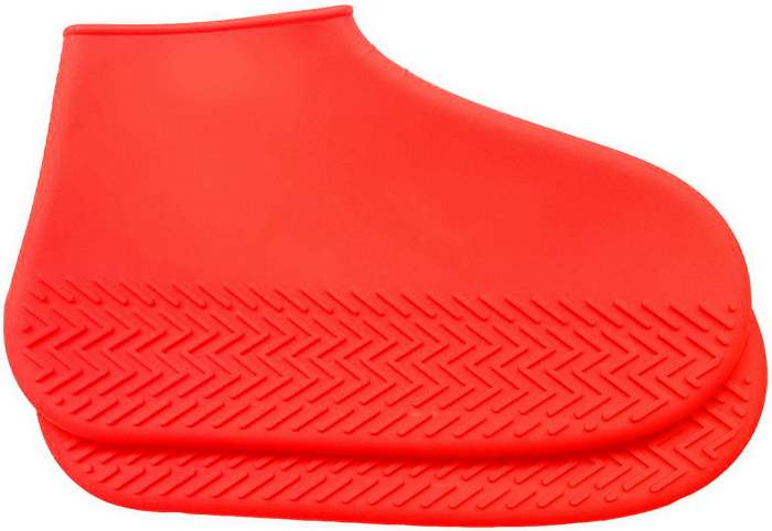 Силиконовые бахилы высокой плотности M (35-40), красные