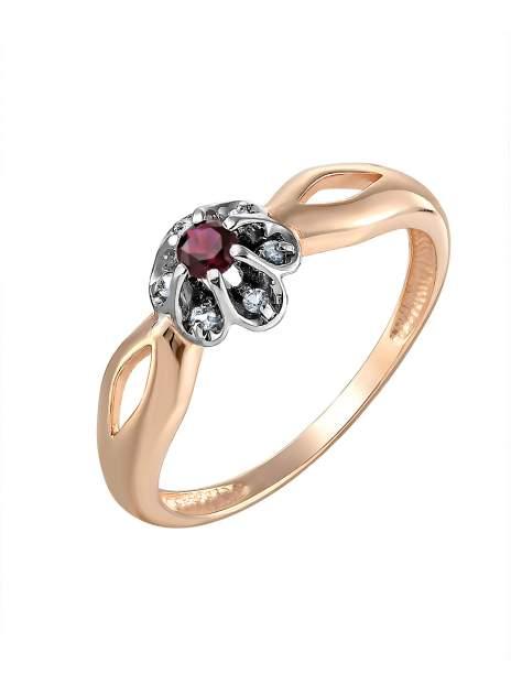 Кольцо женское SamoroDki Jewelry 1-03-005-02з№8 из серебра корунд/рубин, р. 19