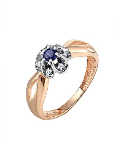 Кольцо женское SamoroDki Jewelry 1-06-005-01з из серебра c сапфиром, р. 21
