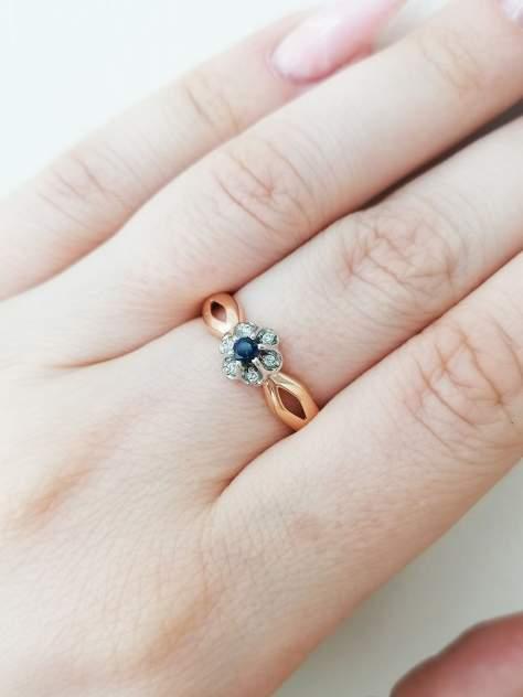 Кольцо женское SamoroDki Jewelry 1-06-005-01з из серебра c сапфиром, р. 17