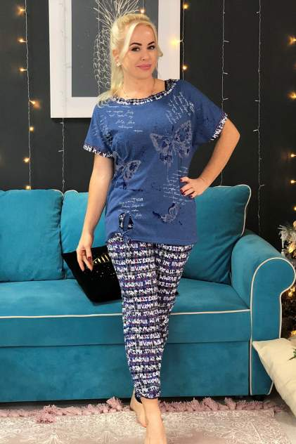 Домашний костюм Миллена Шарм 7105, синий