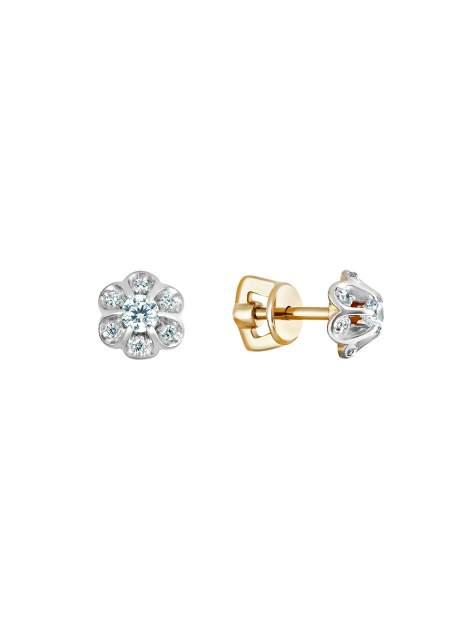 Серьги женские SamoroDki Jewelry 2-08-005-12з из серебра c фианитом