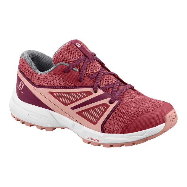 Кроссовки женские Salomon SENSE J Garnet Ros/Beet Red/Coral розовые 5 UK