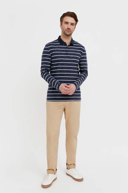 Лонгслив-поло мужской Finn Flare B21-21021 синий 3XL