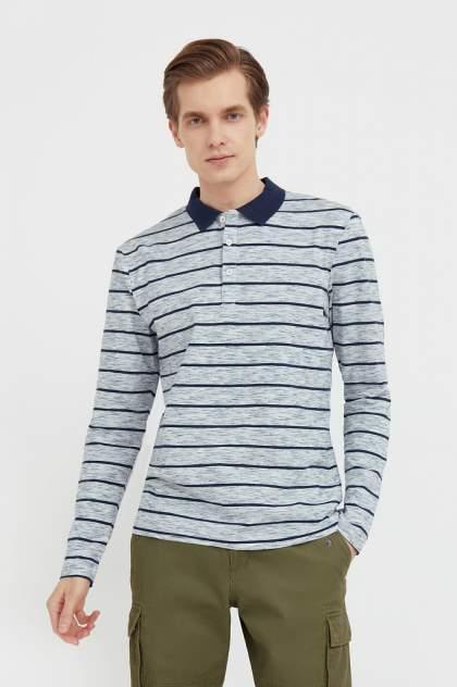 Лонгслив-поло мужской Finn Flare B21-21021 серый 3XL
