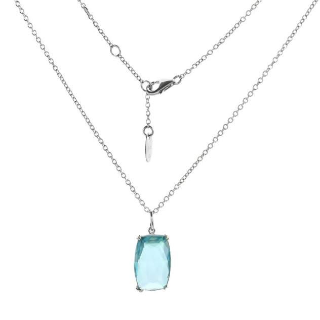 Колье женское Balex Jewellery 9435820026 из серебра, аквамарин, 45 см