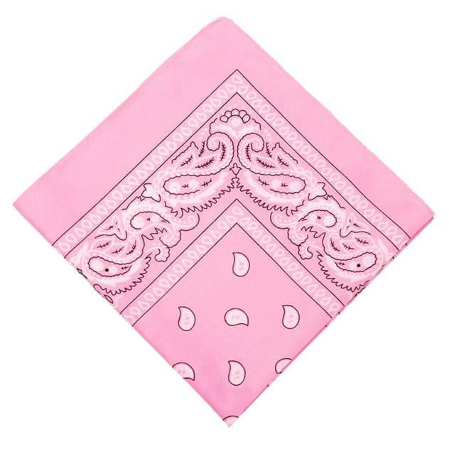 Бандана женская Baziator hip-hop розовая, 55 см
