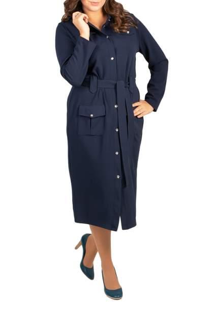 Платье женское BELUCHI Сафари синее 60 RU