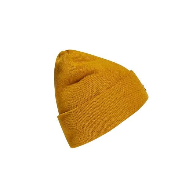 Шапка бини унисекс adidas Logo Woolie (FT8843) legacy gold/legacy gold/black
